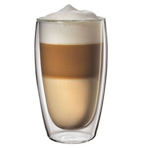 Cilio Latte Macchiato Glas im Set, 450ml, 2-teilig