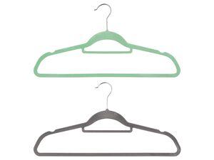 LIVARNO LIVING® Kleiderbügel, 22 Stück, rutschhemmender Überzug, 2,5 kg Belastbarkeit