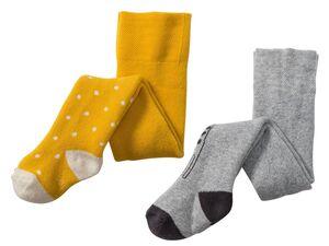 LUPILU® Baby Strumpfhose Mädchen, 2 Stück, Komfortzwickel, mit Bio-Baumwolle