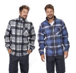 Holzfällerhemden aus Fleece, verschiedene Farben