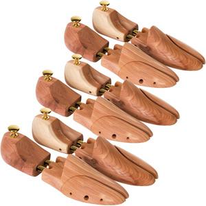 3 Paar Schuhspanner aus Zedernholz 42-43