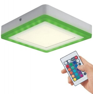 Osram LED Panel LED Color + White ,  weiß, 19,8 cm, eckig, 19 Watt