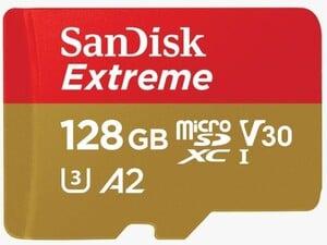 Sandisk Speicherkarte 128 GB ,  Class 3, Extreme, inkl. Adapter