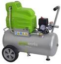 """Bild 2 von Greenworks Kompressor Set 24l """"8 bar, 24 l, 120 l/min, 1,5 kW, ölfrei, inkl. 11-teiligem Zubehör,"""""""
