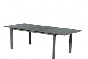 """PRIMASTER Alutisch Rivoli """"180/240 x 100 x 75 cm, rechteckig, grau, ausziehbar"""""""