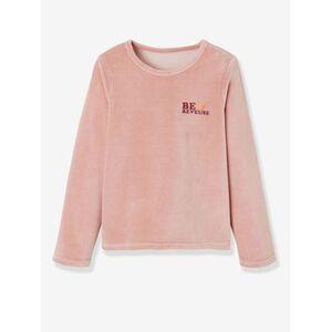 Vertbaudet     2er-Pack Samt-Pyjamas für Mädchen multicolor dunkelrot