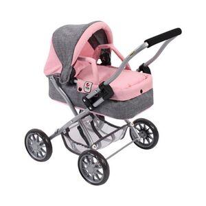 Bayer Chic     Puppenwagen Smarty Melange grau/rosa