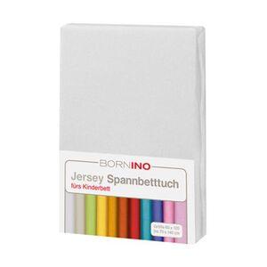 BORNINO HOME     Jersey-Spannbetttuch 60x120 cm - 70x140 cm weiß