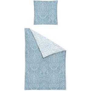 """Irisette Satin-Bettwäsche """"Eos"""", Ornamente, 135x200 cm, blau/weiß, cm"""