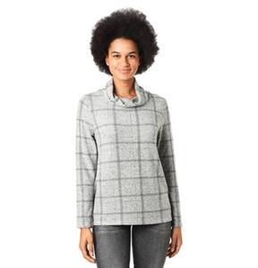 Tom Tailor Shirt, Rollkragen, kariertes Muster, für Damen