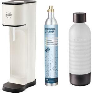 """mySodapop Sprudelwasserbereiter """"Joy Fashion"""" matt white, inkl. PET-Flasche und CO2-Zylinder, weiß"""