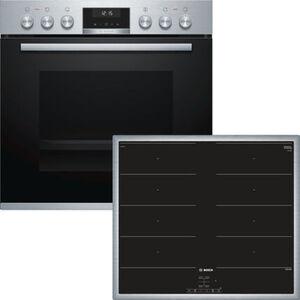 Bosch HND 619LS65 Induktions-Einbauherd-Set, A