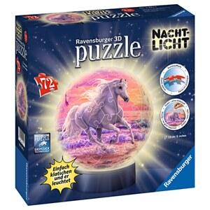 Ravensburger - 3D Puzzleball: Nachtlicht Pferde am Strand, 72 Teile