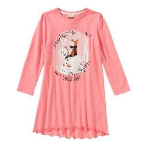 Mädchen-Nachthemd mit winterlichem Frontaufdruck