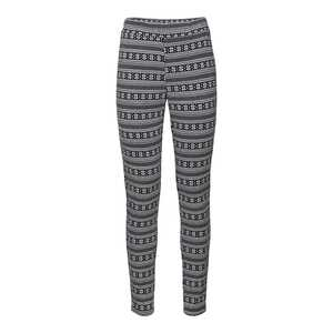 Damen-Leggings mit Jacquard-Muster
