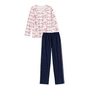 Damen-Schlafanzug mit trendigem Muster, 2-teilig
