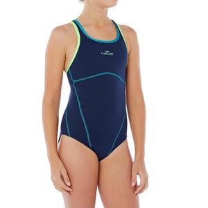 Badeanzug Kamiye+ chlorresistent Mädchen blau