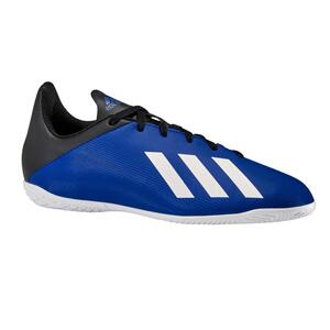 Hallenschuhe Futsal X4 Kinder blau/schwarz