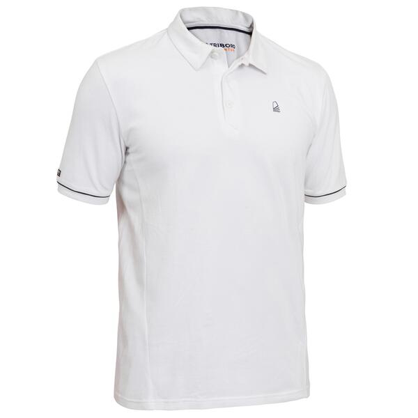 Poloshirt kurzarm Sailing 100 Herren weiß