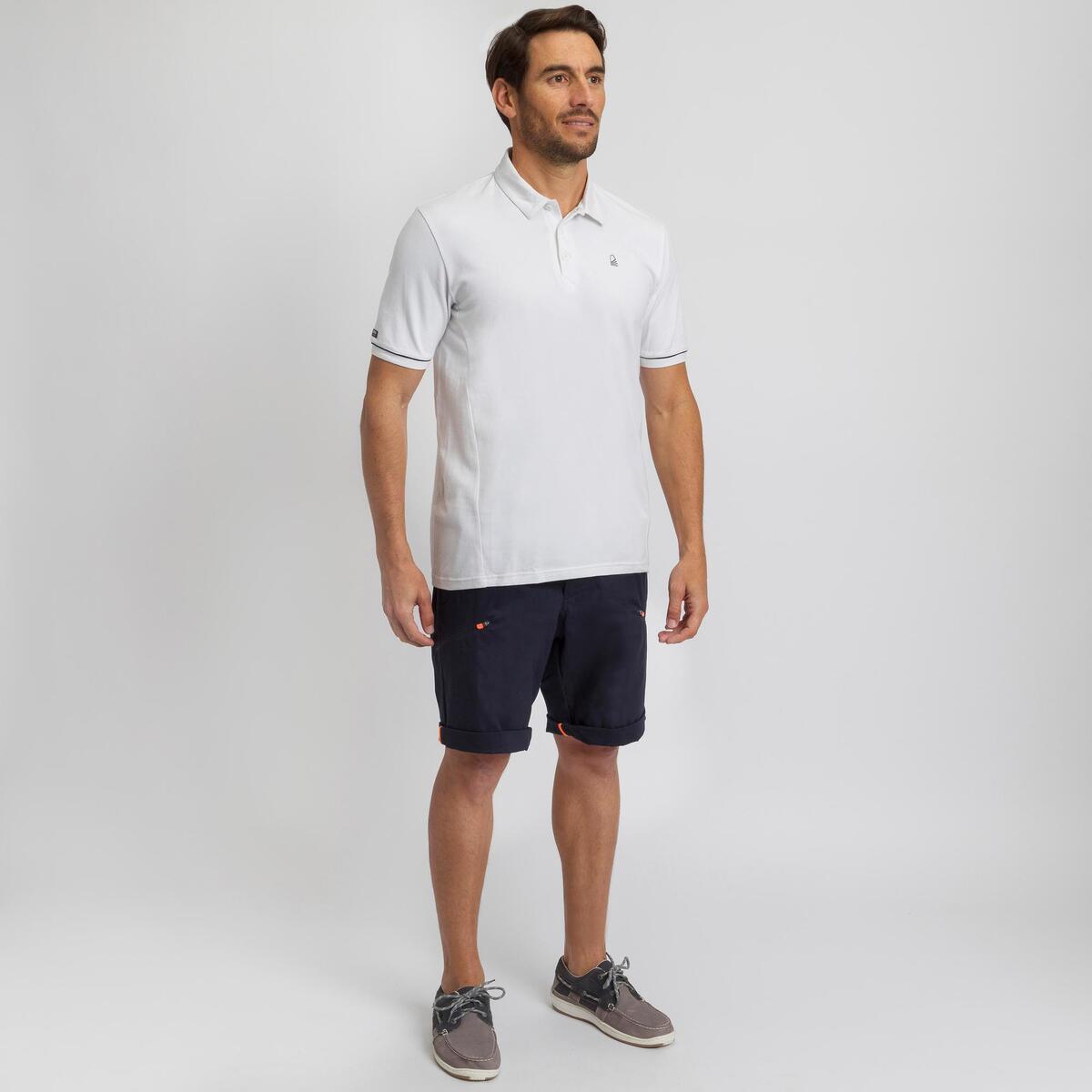 Bild 2 von Poloshirt kurzarm Sailing 100 Herren weiß
