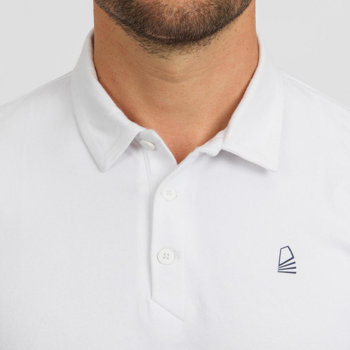 Bild 5 von Poloshirt kurzarm Sailing 100 Herren weiß