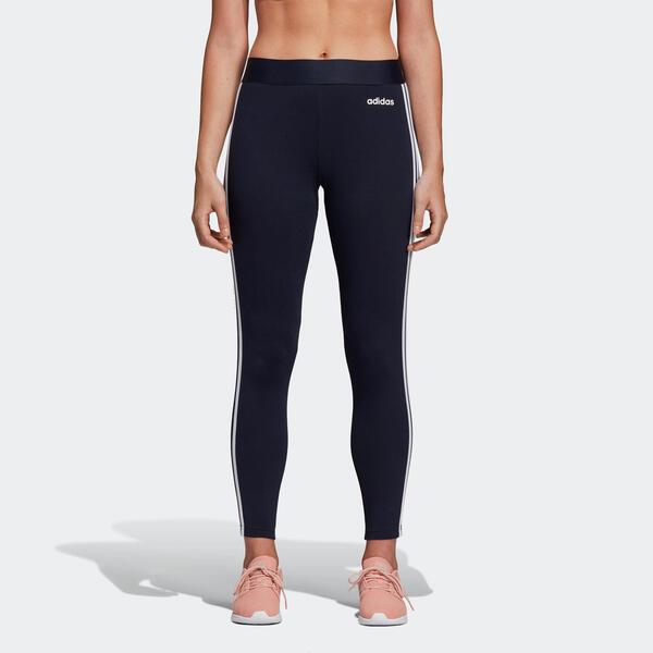 ADIDAS Leggings 3 Streifen Gym Damen blau