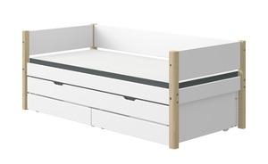 Bett mit Ausziehbett und 2 Schubkästen