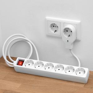 Powertec Electric 6-fach-Tischsteckdose
