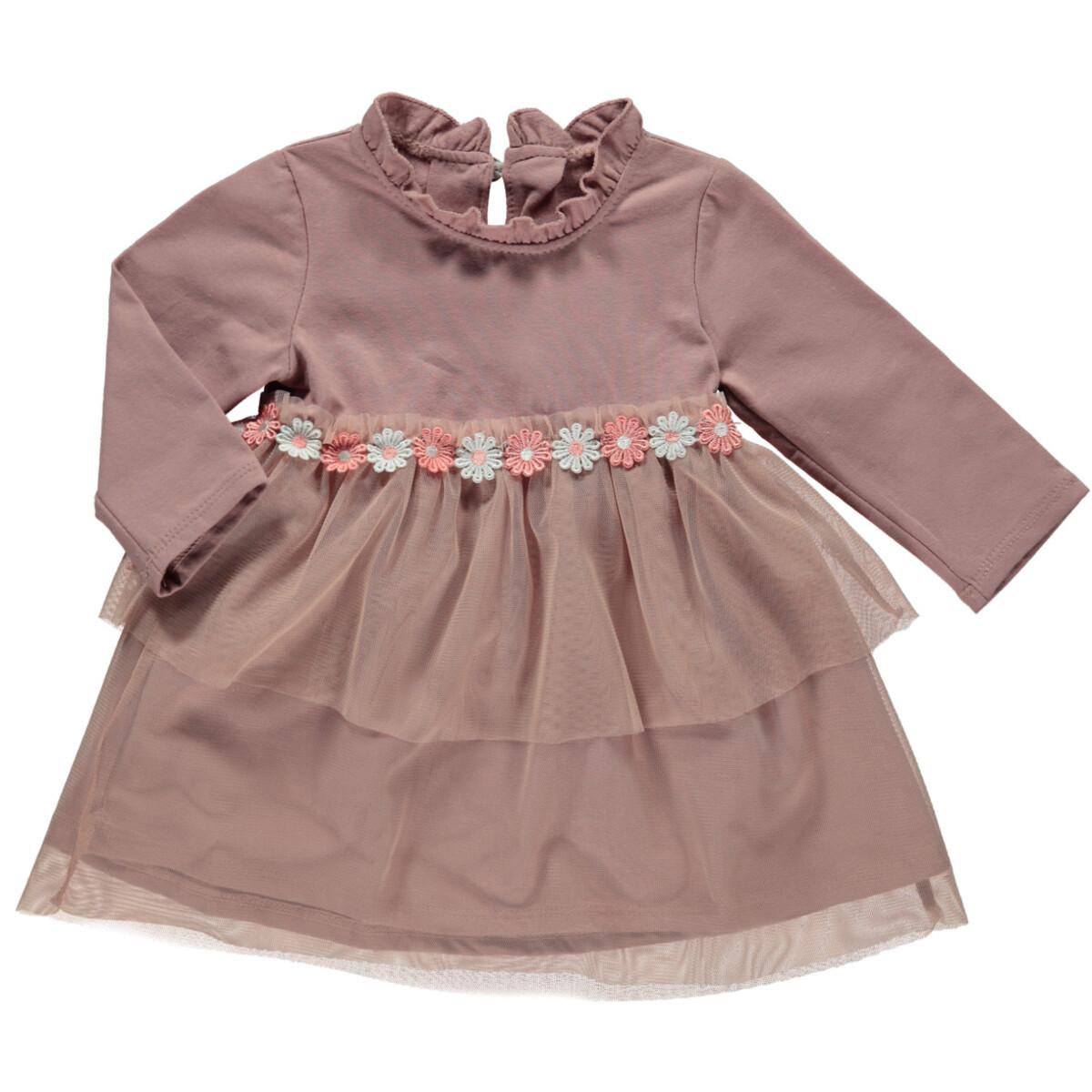 Bild 1 von Baby Mädchen Kleid mit Blumenverzierung