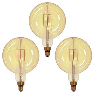 Maximus LED Maxi-Globe Leuchtmittel G200, Filament - Gold - 3er Set
