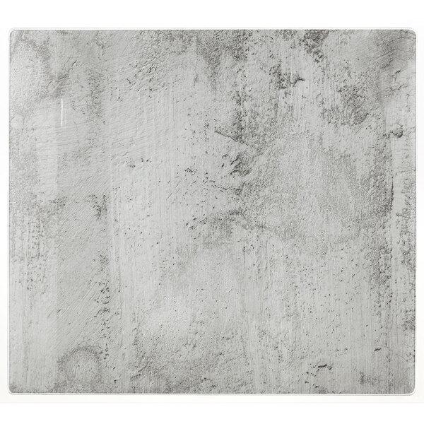Kesper XXL Herdabdeckplatte aus Glas - Betonoptik