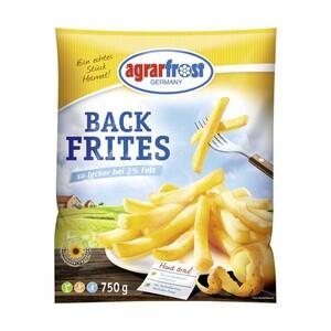 agrarfrost Back Frites oder Crunchy Riffled Frites, gefroren, jeder 750/450-g-Beutel und weitere Sorten