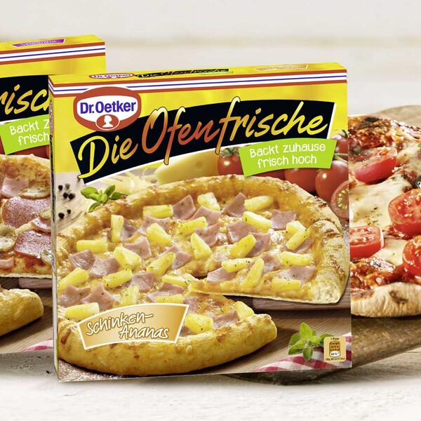 Dr. Oetker Die Ofenfrische Pizza Speciale oder Schinken-Ananas, gefroren, jede 415/410-g-Packung und weitere Sorten