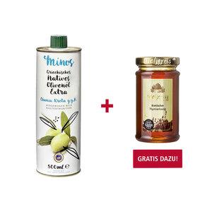 Minos natives Olivenöl extra jede 500-ml-Flasche