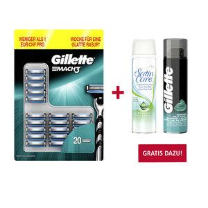 Gillette Mach3, Fusion5 oder Venus Rasierklingen jede 20er/14er/12er-Packung