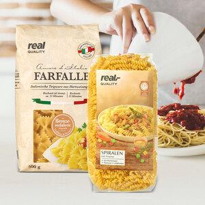 rQ deutsche Teigwaren oder italienische Pasta versch. Sorten, 500-g-Packung, ab 3 Packungen je