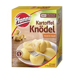 Pfanni Kartoffel-Knödel halb & halb 6 Stück im Kochbeutel oder Kartoffel-Püree das Komplette 3 x 3 Portionen und weitere Sorten, jede Packung