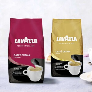Lavazza Caffé Crema Classico, Dolce oder Gustoso ganze Bohne jede 1000-g-Packung