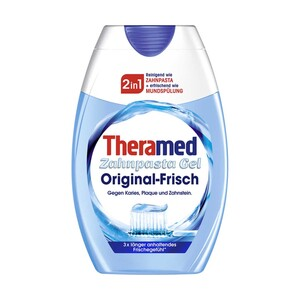 Theramed Zahnpasta Gel 2in1 oder Spender versch. Sorten, jede 75-ml-Flasche/jeder 100-ml-Spender
