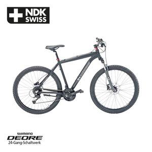 Alu-Mountainbike Swiss Life NDK 27,5er oder 29er - Daumenschalthebel - Rahmenhöhe: 52 cm - Suntour verstellbare Alu-Federgabel