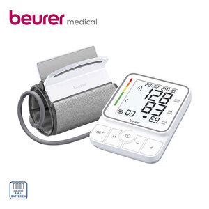 Blutdruckmessgerät BM 51 easyClip  · vollautom. Blutdruck- und Pulsmessung am Oberarm · Arrhythmie-Erkennung · je 100 Speicherplätze für 2 Benutzer