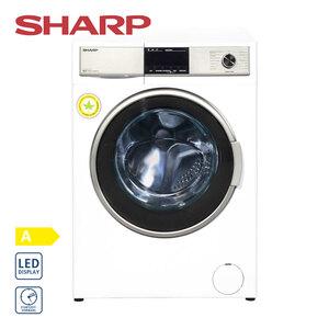 Waschtrockner ES-HDB87W-DE · 15 Programme · Bubble-Drum-Edelstahltrommel für besonders sanfte Waschpflege · antibakterielle beschichtete Waschtrommel · Maße: H 84,5 x B 59,7 x T 58,2 cm · Ener