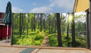 Westerholt Seitenmarkise mit Fotodruck Wald 1,6x3m, rechts