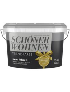 Wand- und Deckenfarbe »Trendfarbe, new black«, mattschwarz