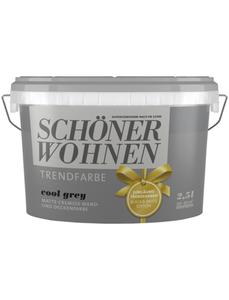 Wand- und Deckenfarbe »Trendfarbe, cool grey«, grau