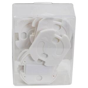 Kindersicherung Steckdose 10Stück weiß selbstklebend Steckdosensicherung
