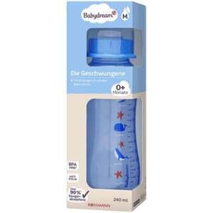 """Babydream Standardflasche """"Die Geschwungene"""" blau 240 ml  0+ Monate"""