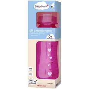 """Babydream Standardflasche """"Die Geschwungene"""" pink 240 ml  0+ Monate"""