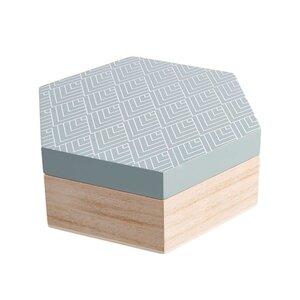 ARTS & CRAFTS Box Hexagon Größe M