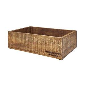 STANDARD SUPPLY Holzkasten rechteckig Größe M